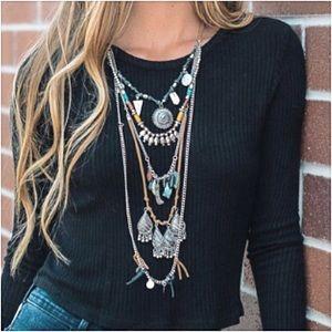 Jewelry - Amazing Bohemian Festival Layered Necklace